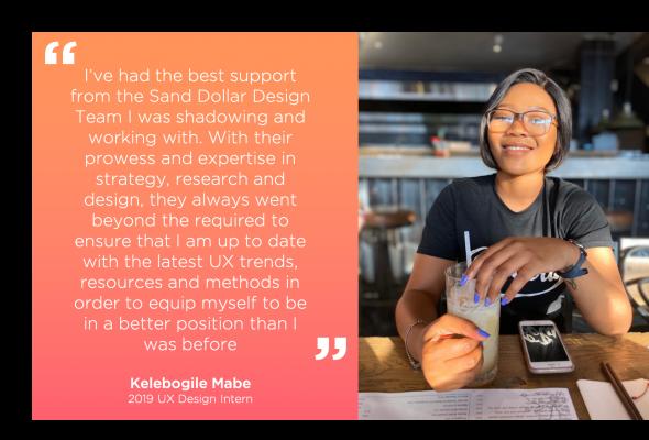 Kelebogile Mabe describes her internship experience at Sand Dollar Design